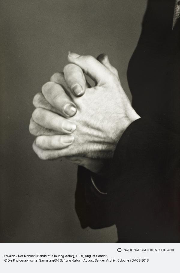 August Sander, Studien - Der Mensch [Hands of a touring Actor], c.1929 (about 1929)