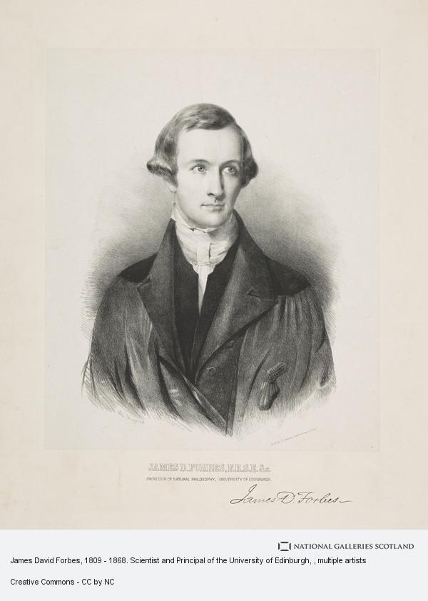 Friedrich Emil Ernest Theodore Schenck, James David Forbes, 1809 - 1868. Scientist and Principal of the University of Edinburgh