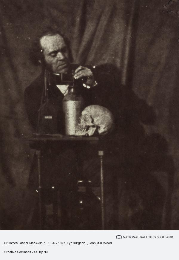 John Muir Wood, Dr James Jasper MacAldin, fl. 1826 - 1877. Eye surgeon
