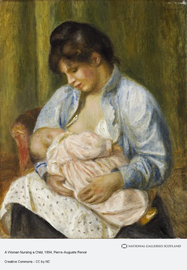 Pierre-Auguste Renoir, A Woman Nursing a Child (1893 - 1894)