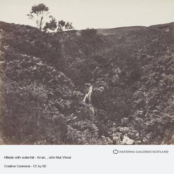 John Muir Wood, Hillside with waterfall - Arran