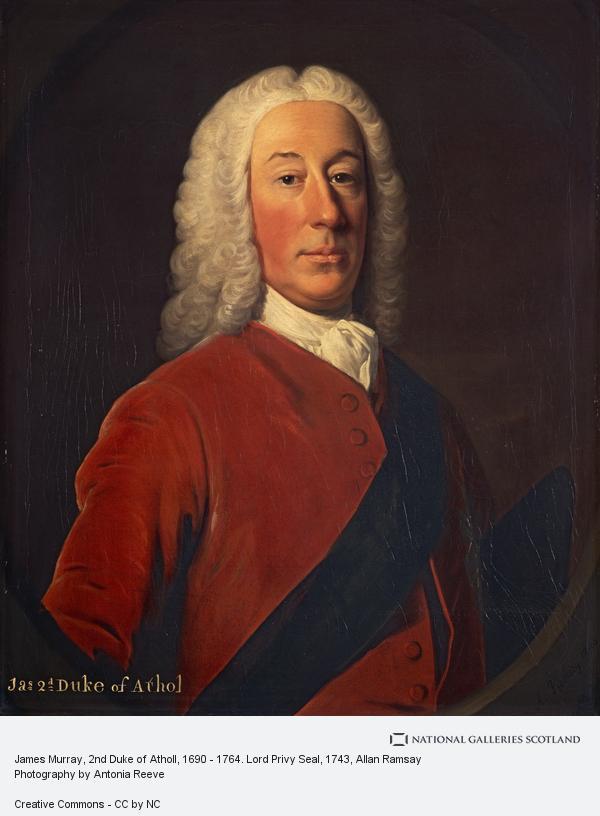 Allan Ramsay, James Murray, 2nd Duke of Atholl, 1690 - 1764. Lord Privy Seal (1743)