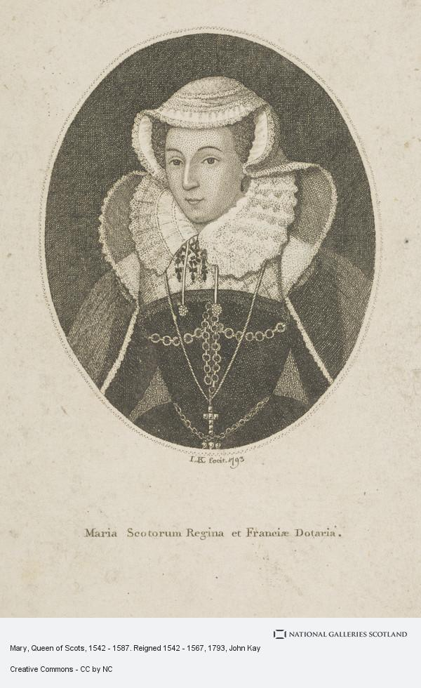 I.K., Mary, Queen of Scots, 1542 - 1587. Reigned 1542 - 1567