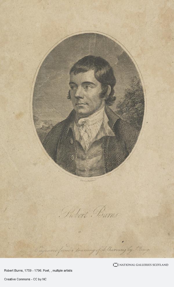 John Beugo, Robert Burns, 1759 - 1796. Poet
