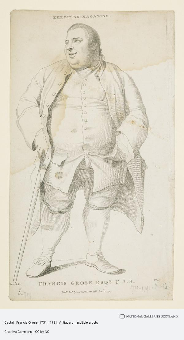 William Ridley, Captain Francis Grose, 1731 - 1791. Antiquary