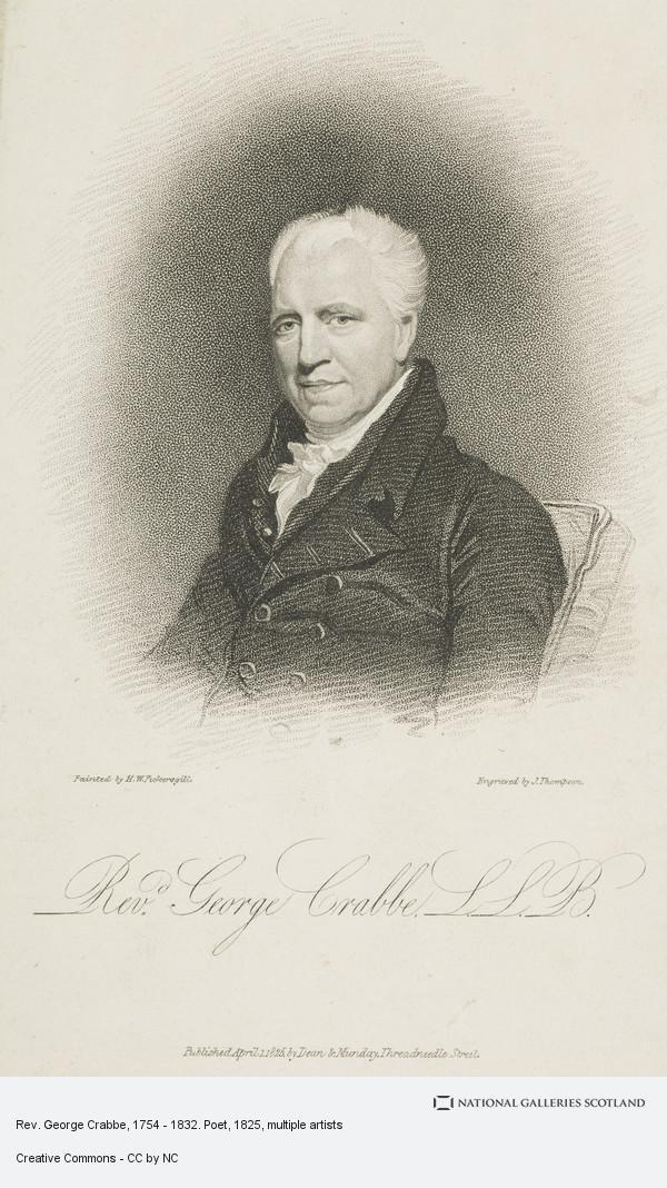 J. Thompson, Rev. George Crabbe, 1754 - 1832. Poet