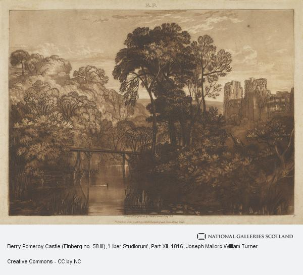 Joseph Mallord William Turner, Berry Pomeroy Castle (Finberg no. 58 III), 'Liber Studiorum', Part XII