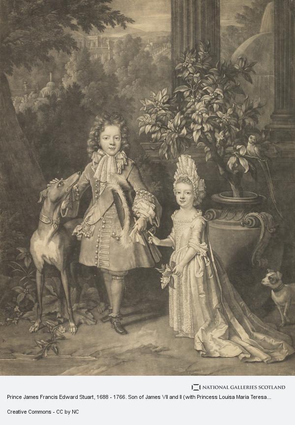 John Smith, Prince James Francis Edward Stuart, 1688 - 1766. Son of James VII and II (with Princess Louisa Maria Teresa, 1692 - 1712)