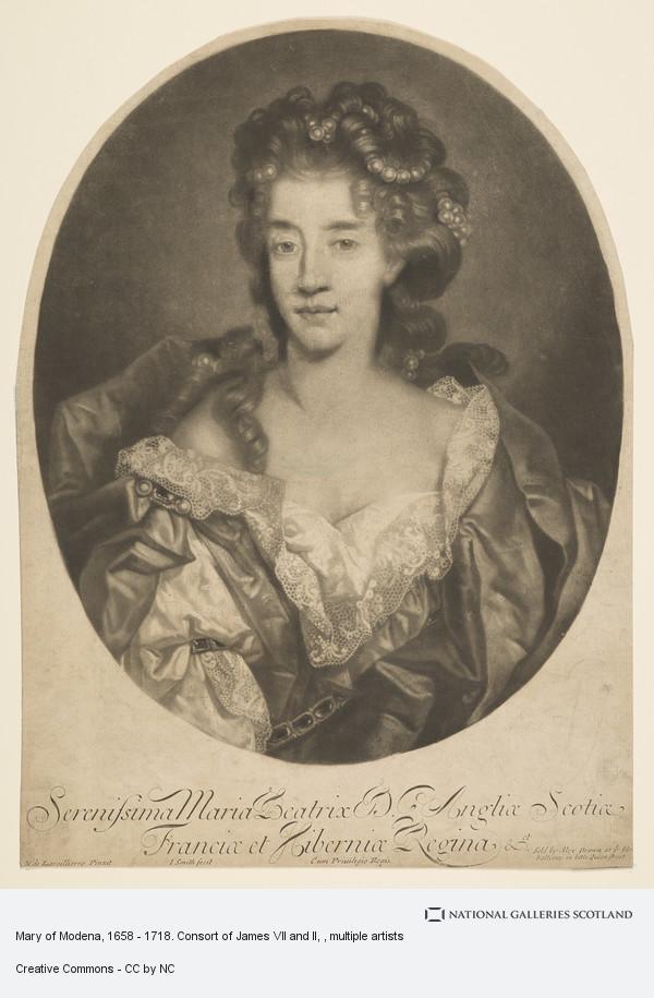 John Smith, Mary of Modena, 1658 - 1718. Consort of James VII and II