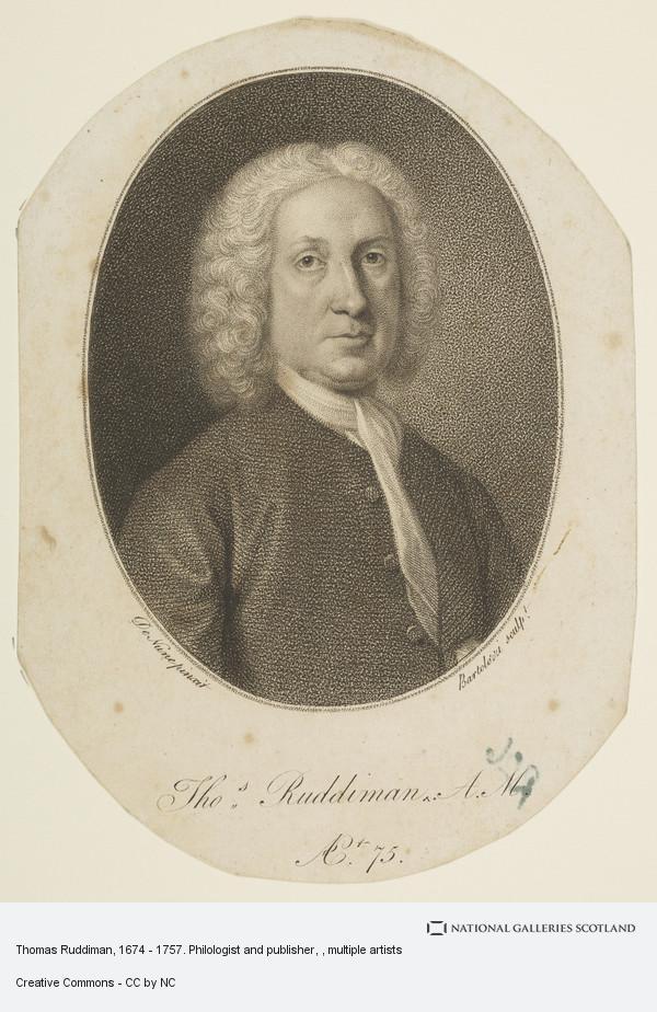 Francesco Bartolozzi, Thomas Ruddiman, 1674 - 1757. Philologist and publisher