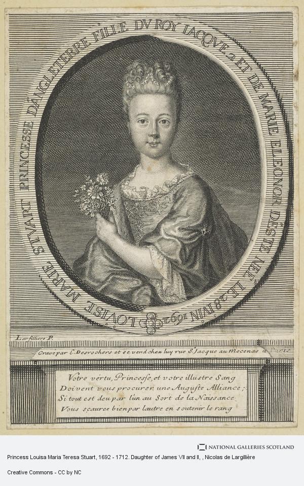 Nicolas de Largilliere, Princess Louisa Maria Teresa Stuart, 1692 - 1712. Daughter of James VII and II