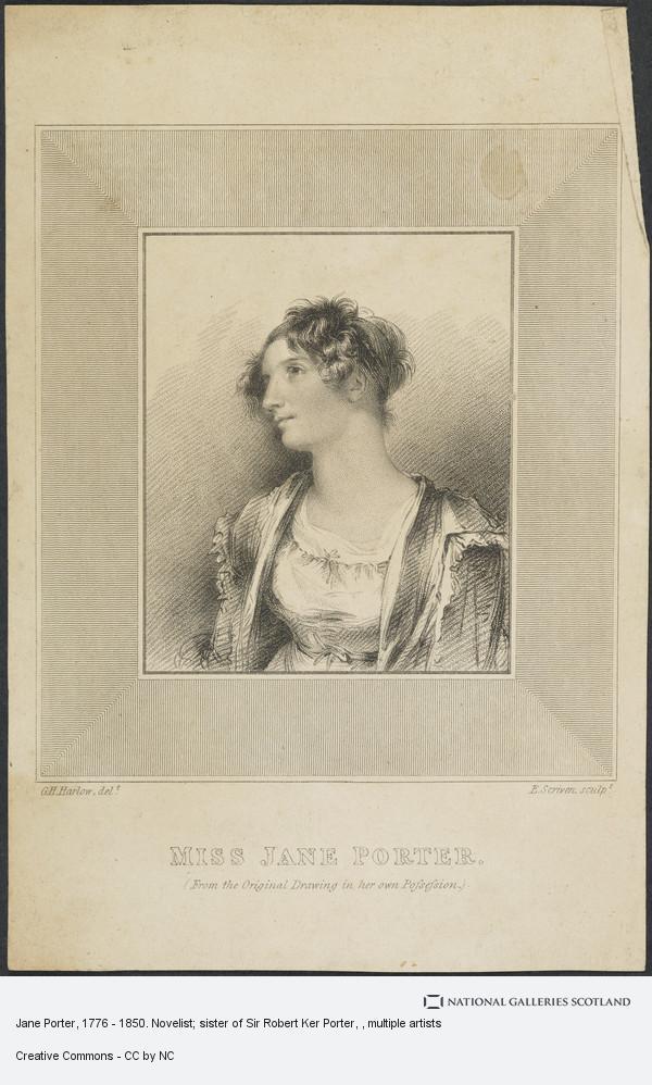 George Henry Harlow, Jane Porter, 1776 - 1850. Novelist; sister of Sir Robert Ker Porter