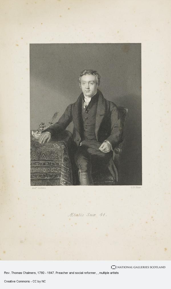 George Baird Shaw, Rev. Thomas Chalmers, 1780 - 1847. Preacher and social reformer