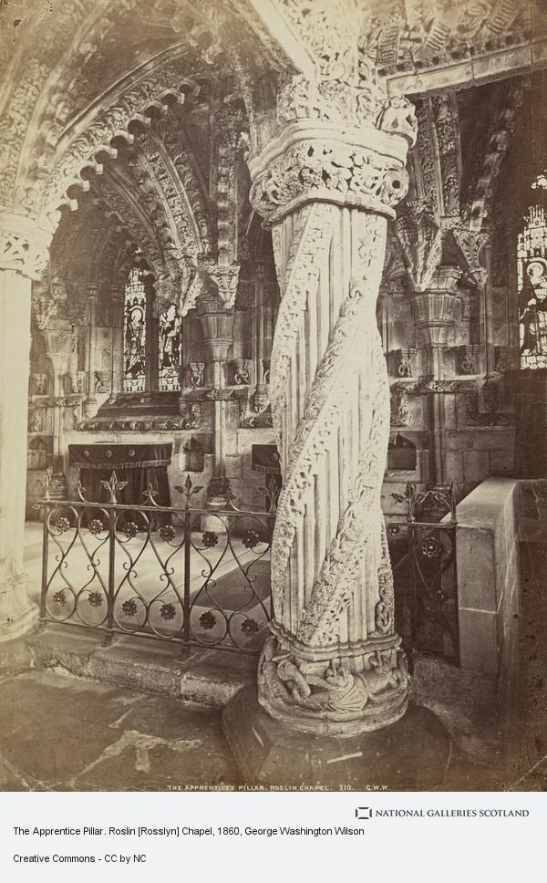 George Washington Wilson, The Apprentice Pillar. Roslin [Rosslyn] Chapel