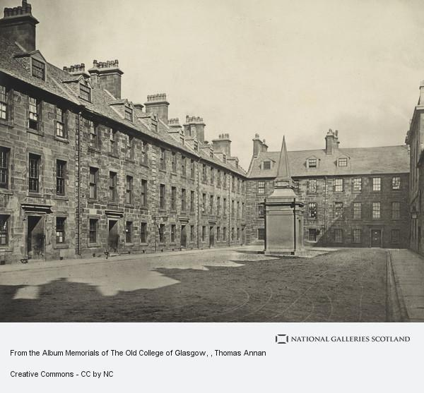 Thomas Annan, From the Album Memorials of The Old College of Glasgow