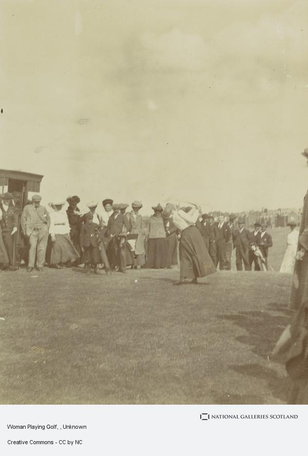 Unknown, Woman Playing Golf