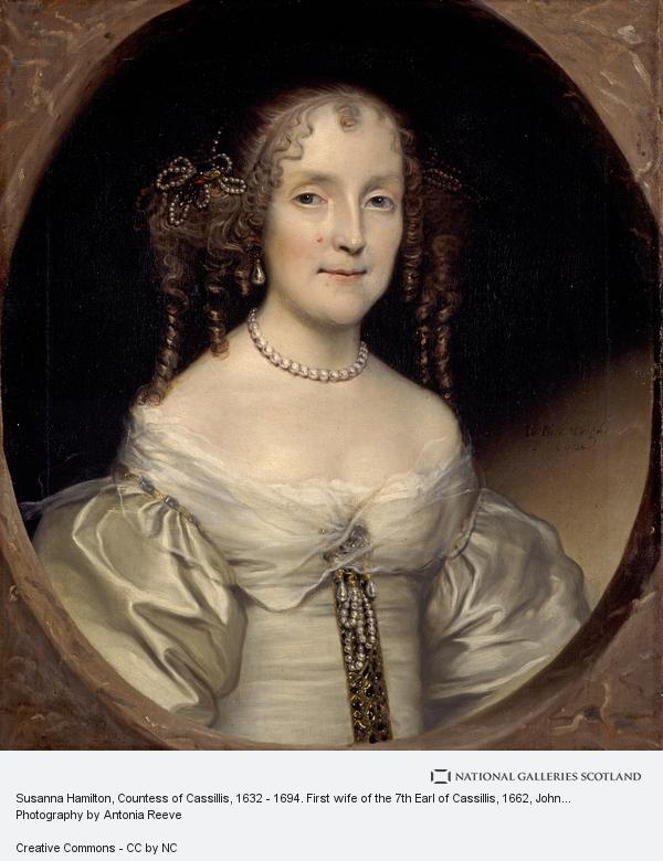 John Michael Wright, Susanna Hamilton, Countess of Cassillis, 1632 - 1694. First wife of the 7th Earl of Cassilis