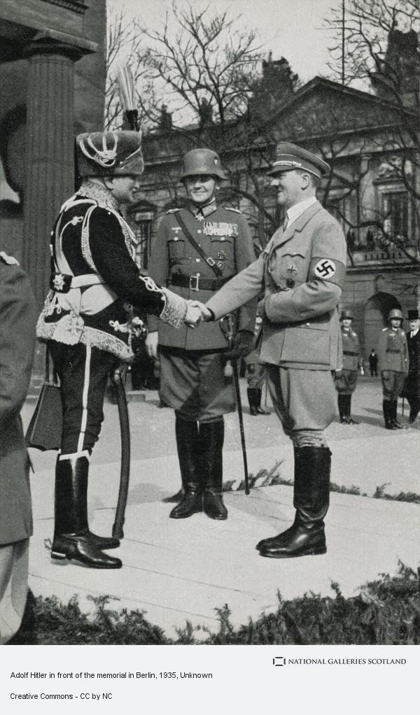 Unknown, Adolf Hitler in front of the memorial in Berlin