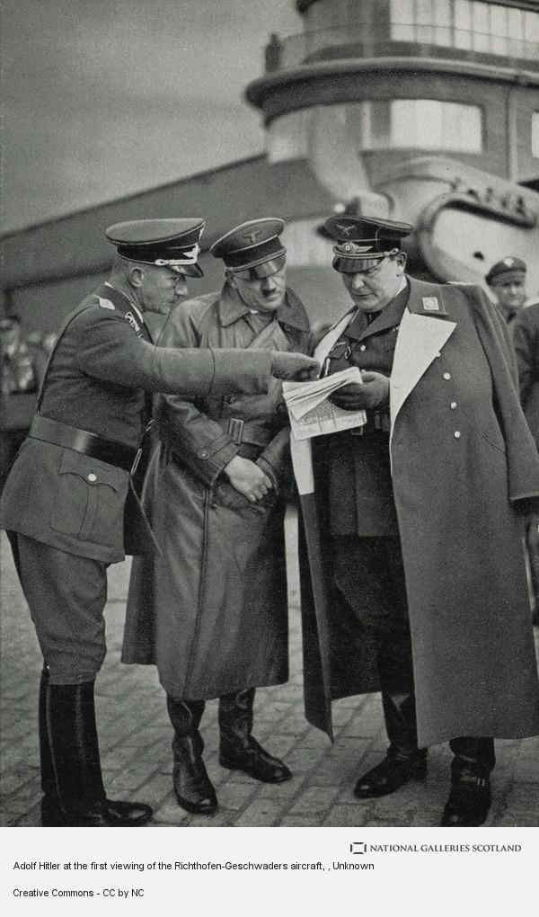 Unknown, Adolf Hitler at the first viewing of the Richthofen-Geschwaders aircraft