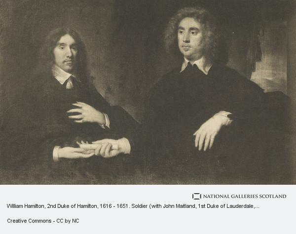 Cornelius Johnson, William Hamilton, 2nd Duke of Hamilton, 1616 - 1651. Soldier (with John Maitland, 1st Duke of Lauderdale, 1616 - 1682. Statesman