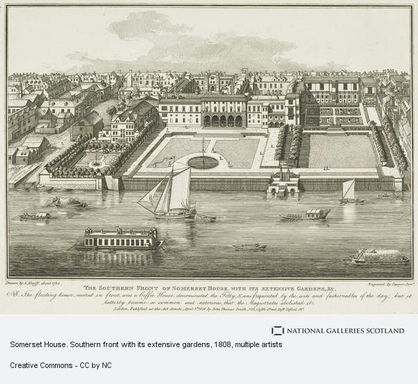 Leonard Knyff, Somerset House. Southern front with its extensive gardens