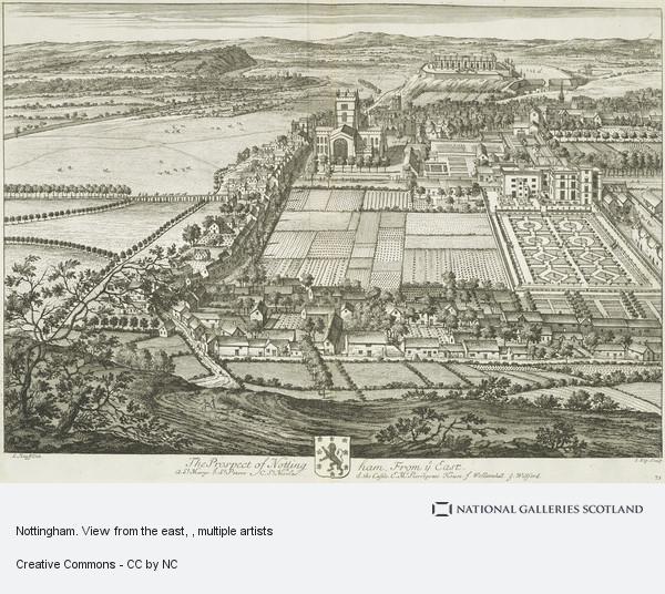 Johannes Kip, Nottingham. View from the east