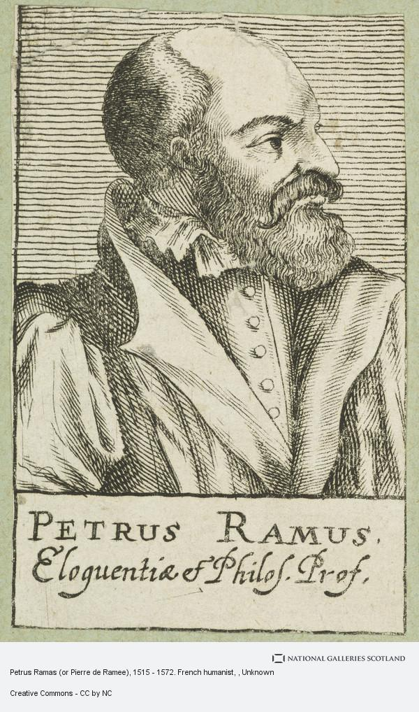 Unknown, Petrus Ramas (or Pierre de Ramee), 1515 - 1572. French humanist