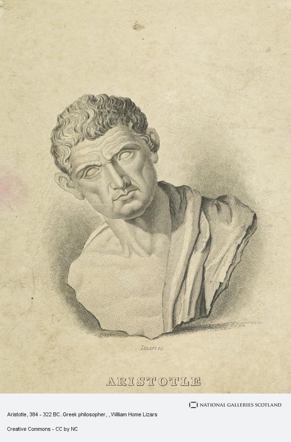 William Home Lizars, Aristotle, 384 - 322 BC. Greek philosopher