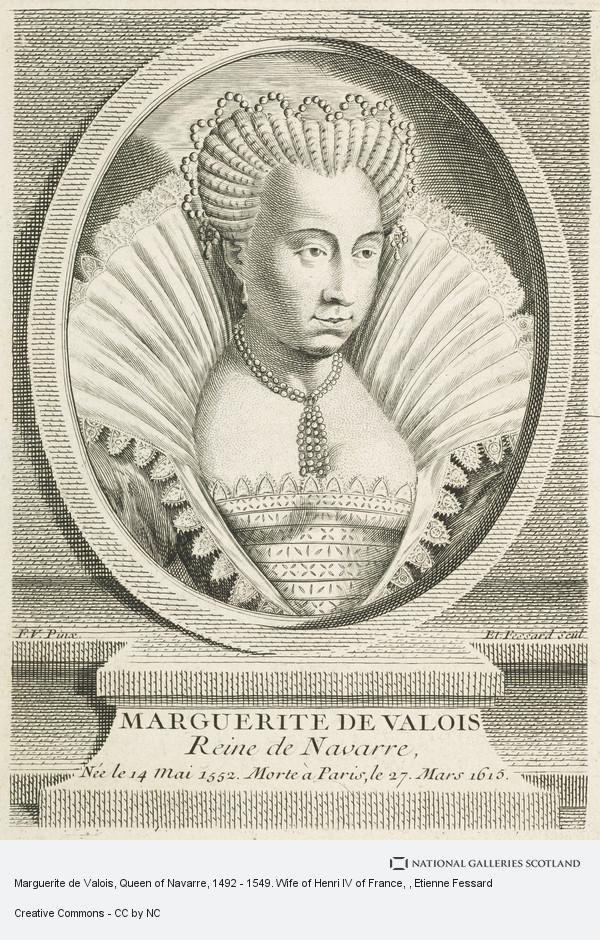 Etienne Fessard, Marguerite de Valois, Queen of Navarre, 1492 - 1549. Wife of Henri IV of France
