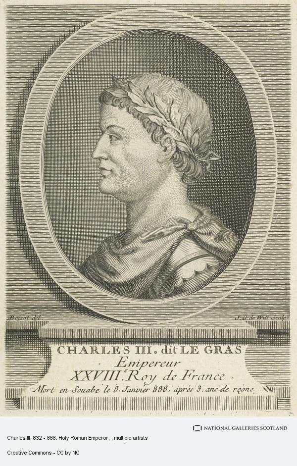 Johann Georg Wille, Charles III, 832 - 888. Holy Roman Emperor