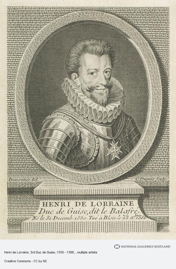Charles Dupuis, Henri de Lorraine, 3rd Duc de Guise, 1550 - 1588