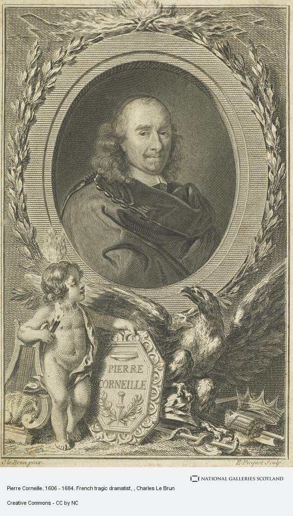Charles Le Brun, Pierre Corneille, 1606 - 1684. French tragic dramatist