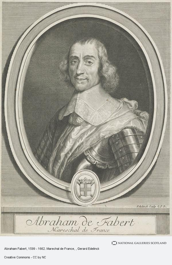 Gerard Edelinck, Abraham Fabert, 1599 - 1662. Marechal de France
