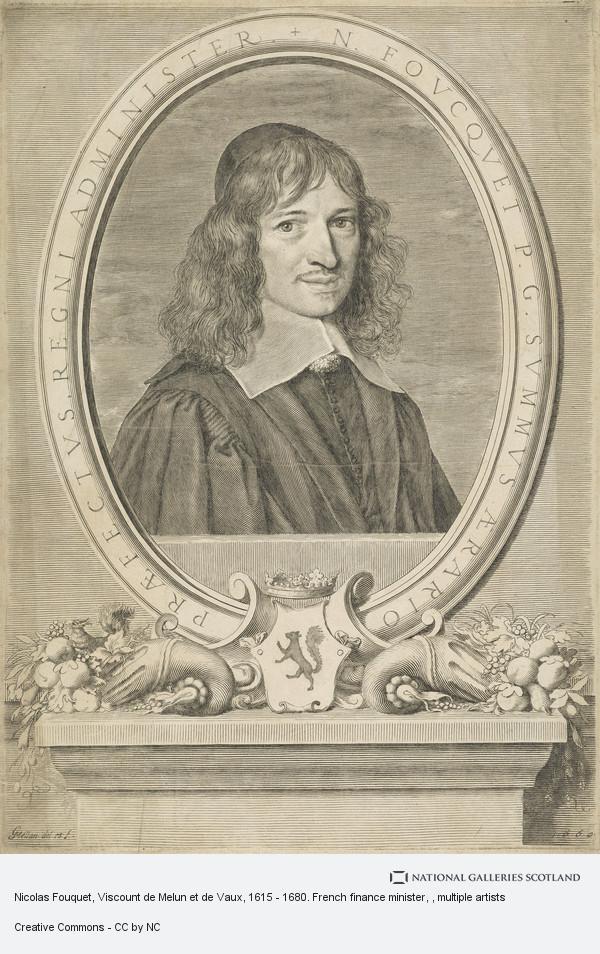 Claude Mellan, Nicolas Fouquet, Viscount de Melun et de Vaux, 1615 - 1680. French finance minister