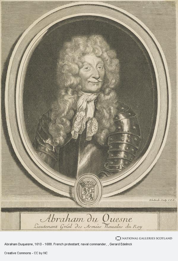 Gerard Edelinck, Abraham Duquesne, 1610 - 1688. French protestant; naval commander