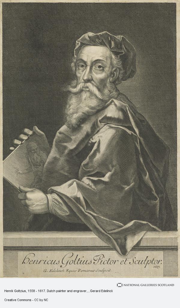 Gerard Edelinck, Henrik Goltzius, 1558 - 1617. Dutch painter and engraver