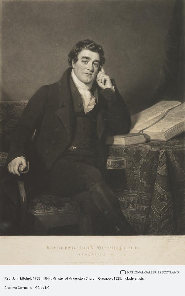 John Graham Gilbert, Rev. John Mitchell, 1768 - 1844. Minister of Anderston Church, Glasgow