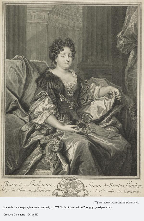 Petrus Drevet, Marie de Lambespine, Madame Lambert, d. 1677. Wife of Lambert de Thorigny