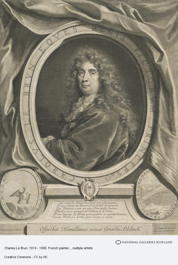 Nicolas de Largilliere, Charles Le Brun, 1619 - 1690. French painter