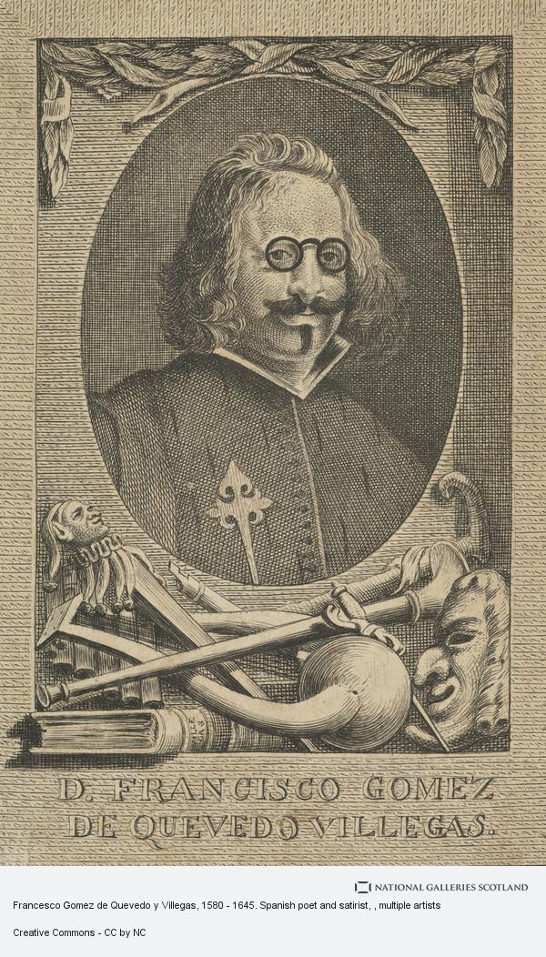 Diego Velázquez, Francesco Gomez de Quevedo y Villegas, 1580 - 1645. Spanish poet and satirist