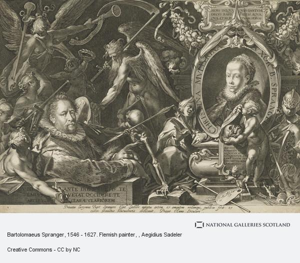 Aegidius Sadeler, Bartolomaeus Spranger, 1546 - 1627. Flemish painter