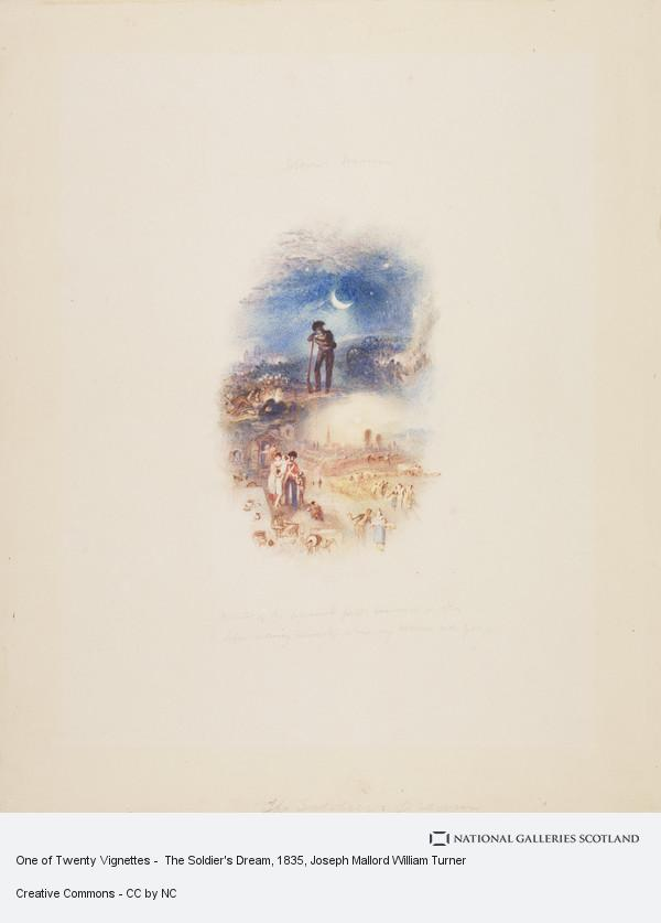 Joseph Mallord William Turner, One of Twenty Vignettes -  The Soldier's Dream
