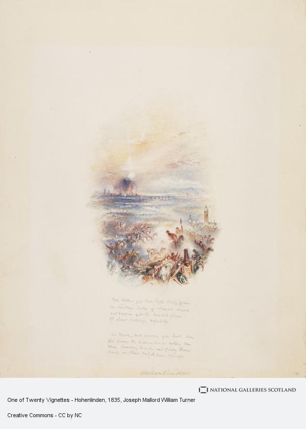 Joseph Mallord William Turner, One of Twenty Vignettes - Hohenlinden