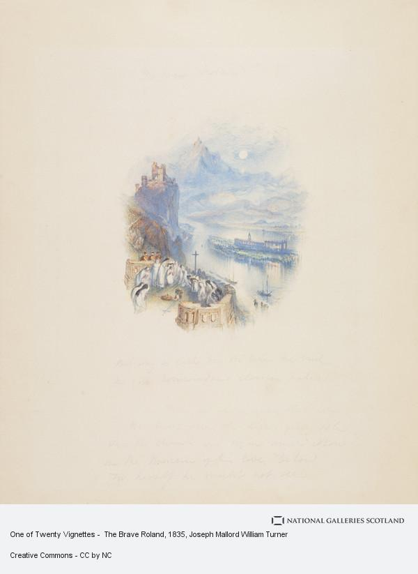 Joseph Mallord William Turner, One of Twenty Vignettes -  The Brave Roland