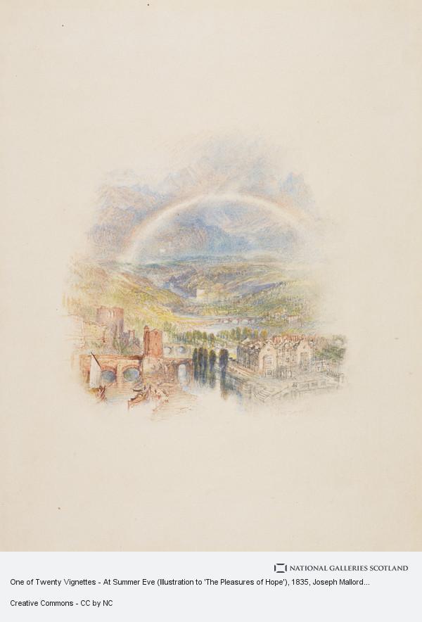 Joseph Mallord William Turner, One of Twenty Vignettes - At Summer Eve (Illustration to 'The Pleasures of Hope')