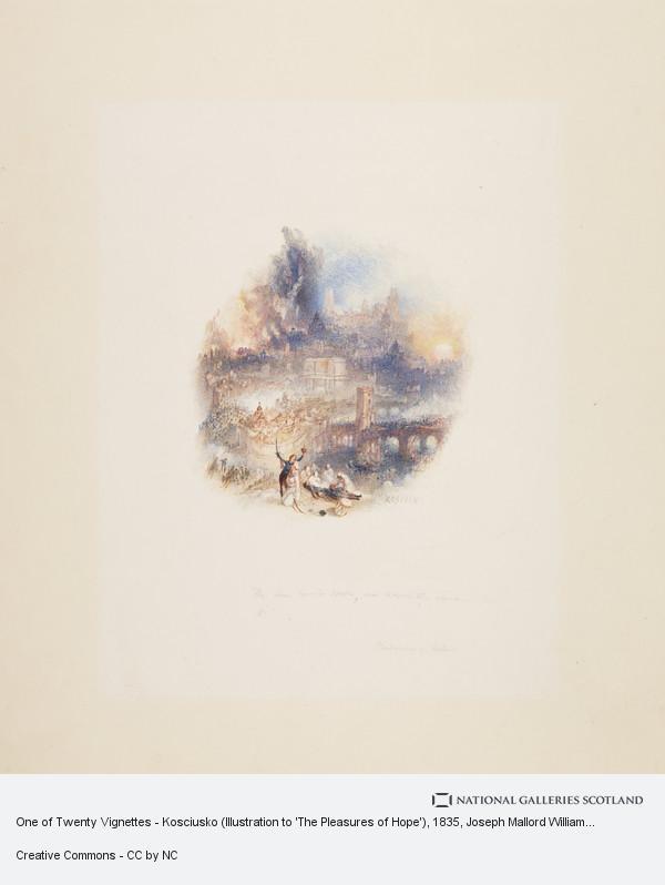 Joseph Mallord William Turner, One of Twenty Vignettes - Kosciusko (Illustration to 'The Pleasures of Hope')