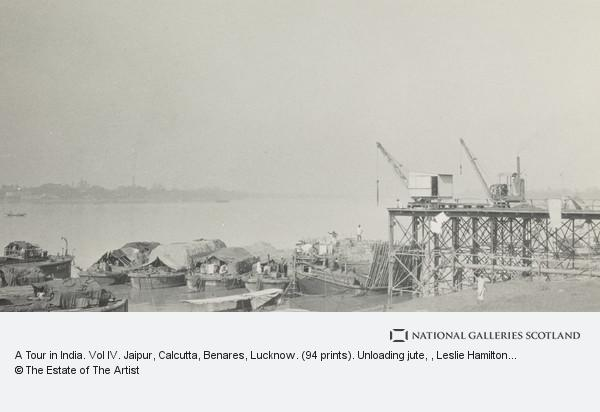 Leslie Hamilton Wilson, A Tour in India. Vol IV. Jaipur, Calcutta, Benares, Lucknow. (94 prints). Unloading jute