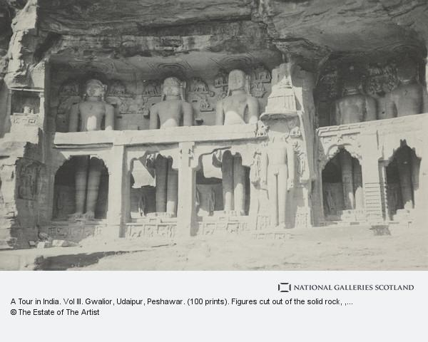 Leslie Hamilton Wilson, A Tour in India. Vol III. Gwalior, Udaipur, Peshawar. (100 prints). Figures cut out of the solid rock