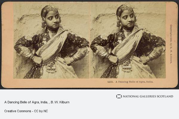 B. W. Kilburn, A Dancing Belle of Agra, India