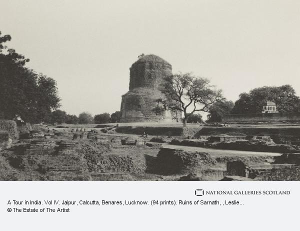 Leslie Hamilton Wilson, A Tour in India. Vol IV. Jaipur, Calcutta, Benares, Lucknow. (94 prints). Ruins of Sarnath